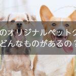 愛犬のオリジナルペットグッズを作ろう!どんなものがあるの?